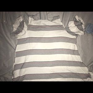 Maurice's striped shirt
